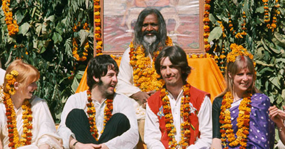 The Beatles with Maharishi in Rishikesh, 1968